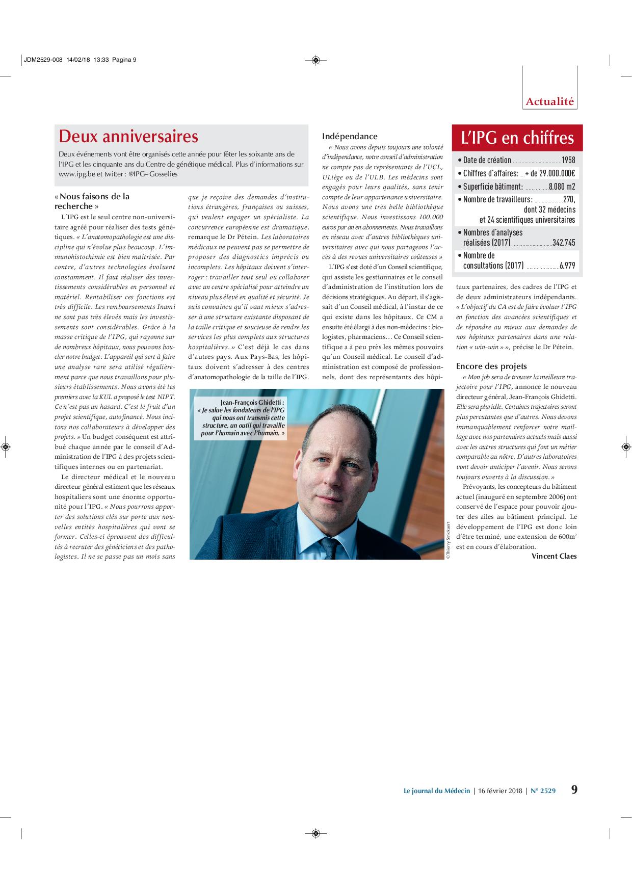 Article du Journal du Médecin